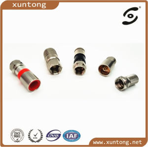 Universal Rg-6 Coaxial Locking Compression Connector F Male Connector pictures & photos