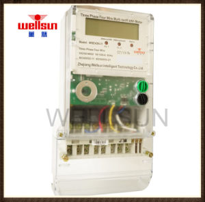 Three Phase Transparent PC Cover Electric Energy Meters pictures & photos