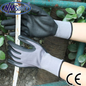 Nmsafety 15g Nylon and Spandex Nitrile Foam Coated Work Glove pictures & photos