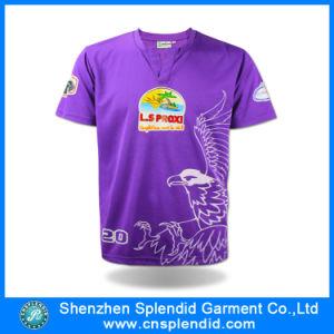 Bulk Wholesale Purple Plain Printed Sport T Shirt for Men