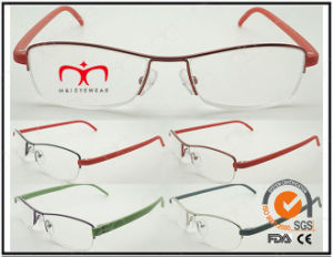 Hot Selling Colorful Tr90 Temples Metal Optical Frames (WRM503028) pictures & photos