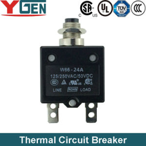 UL CAS TUV Push Button Reset Circuit Breaker (W66-24A)