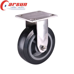 8inches Heavy Duty Rigid Caster with Polyurethane Wheel (stainless steel) pictures & photos