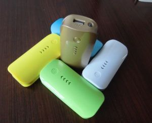 5600 mAh USB External Backup Charger Power Bank with LED Torch pictures & photos