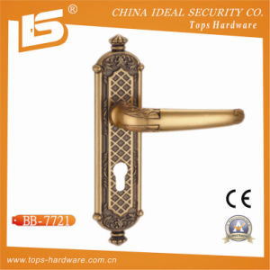 Classic Brass Door Lock Plate Handle (BB-7721) pictures & photos
