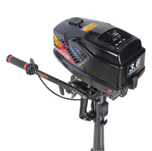 Small 2 Stroke Water Cooled 3.6HP Hangkai Motor Boat Outboard pictures & photos
