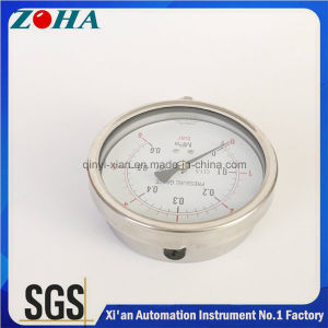 4 Inch Bottom Connection High Quality Stainless Steel Pressure Instruments pictures & photos
