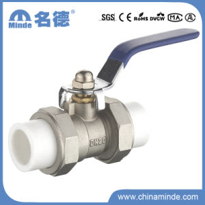 PPR Double Union Ball Valve Copper Core&Body for Building Materials pictures & photos