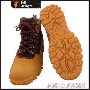 Rubber Outsole Ankle Industrial Safety Shoe with Genuine Leather (SN5376) pictures & photos