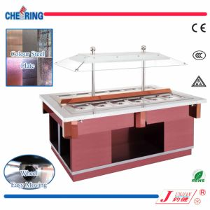 Color Steel or Stainless Steel Square Salad Bar pictures & photos