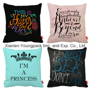 Promotional Home Decorative Custom Printing Design Travel Square Throw Pillow pictures & photos