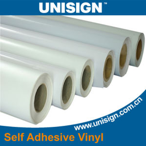 Glossy PVC Self Adhesive Vinyl for Digital Pringing, 80 Micron PVC Film pictures & photos
