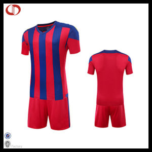100% Polyester Football Jersey Uniform for Men pictures & photos