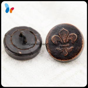 Custom Dark Brown Real Leather Button for Fashion Suit pictures & photos