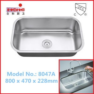 Under Mount Installation Stainless Steel Sink with Cupc Approved (8047) pictures & photos