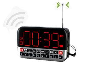 Large Screen FM Radio Receiver MP3 Speaker with Alarm Clock/USB/TF Play