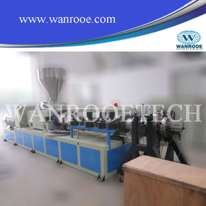 Conical Twin Screw Extruders PVC Granular Machine Plastic Extruder Machine pictures & photos