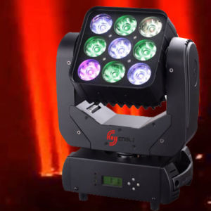 10W*9 LED Moving Head Matrix Light for Stage (HL-001MB) pictures & photos