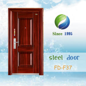 China Newest Develop and Design Single Steel Metal Iron Door (FD-F37) pictures & photos