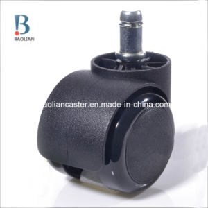 Black Caster Light Duty PU Caster 50mm2inch Chair Caster