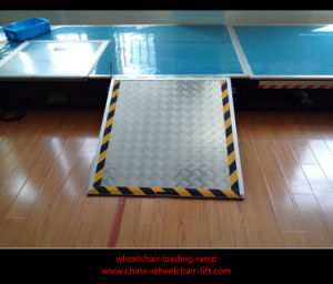 Manual Wheelchair Loading Ramp for City Bus with Loading 350kg pictures & photos