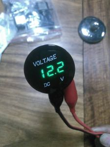 Waterproof 12V-24V Voltmeter Blue Display for Car Boat pictures & photos