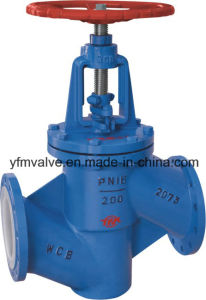 PFA Lined Globe Valve Pn16 pictures & photos