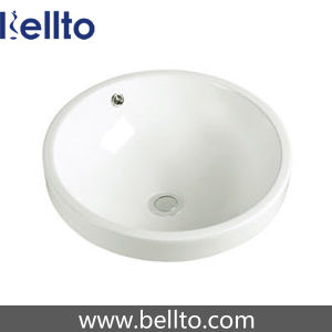 Sanitary Ware/ Round Drop-in Ceramic Basin with Bathroom Accessories (6237) pictures & photos