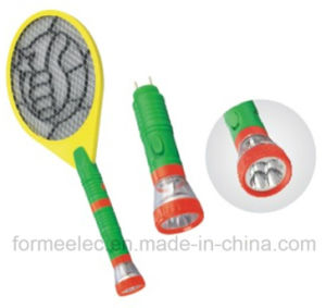 Rechargeable Electric Mosquito Swatter V088b with LED Torch Mosquito Killer pictures & photos