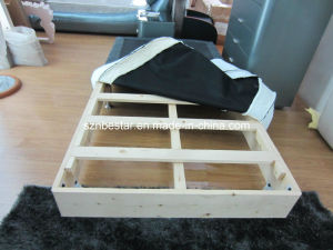 Home Furniture Economical Divan Bed Inside Comes with Wooden Body and Metal Legs pictures & photos