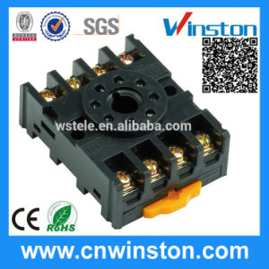 Round Type DIN Rail Mouting Electric Relay Socket with CE pictures & photos