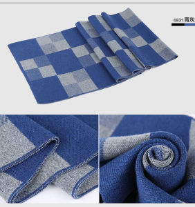 Men′s Fashion Checked Pattern Wool Knitted Winter Long Scarf (YKY4605) pictures & photos