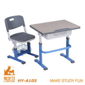 Adjustable Student Study Desk and Chair/School Furniture pictures & photos