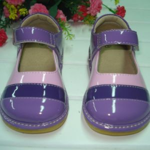 Purple Pink Tri Colored Girl Squeaky Shoes