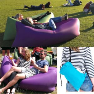 Fast Inflatable Sleeping Bag Lamzac Hangout Lounger Air Sleeping Bag Nylon Fabric Sleep Bed Lazy Chair outdoor Pocket Air Bags