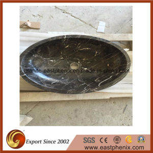 Chinese Marron Emperador Stone Sink pictures & photos