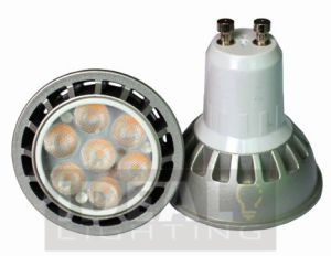 LED GU10 7X1w Spotlight, Dimmable Silver Finish