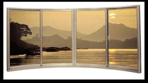 Champagne Color Aluminum Sliding Window Luxury Window pictures & photos