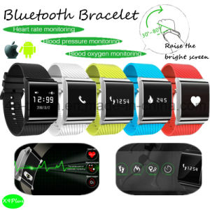 Waterproof Bluetooth Smart Bracelet/Watch with Heart Rate Monitor X9plus pictures & photos