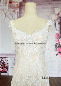 Quality Halter Lace Beaded Bridal 2016 Classic Mermaid Wedding Dress pictures & photos