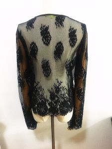 Fashion Apparel Sexy Sawtooth Lace Long Sleeve Women Garment pictures & photos