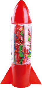 Fruit Bubble Gum with Super Tattoo in Rocket Shaped Packing pictures & photos