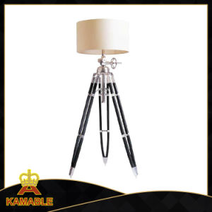 Fabric Lampshade with Wood Tripod Floor Lamps (KAF715L) pictures & photos