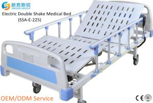 China Supply Hospital Furniture Electric 2-Crank Shake Medical Bed pictures & photos