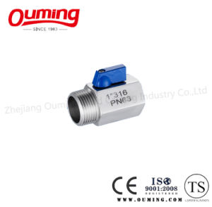 Stainless Steel Mini Ball Valve with Female/Male End pictures & photos
