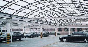 Steel Space Truss Structure Cheap Prefab Garage