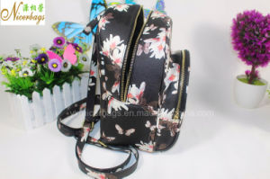 2016 Latest Fancy Girl Flower PU Backpack pictures & photos