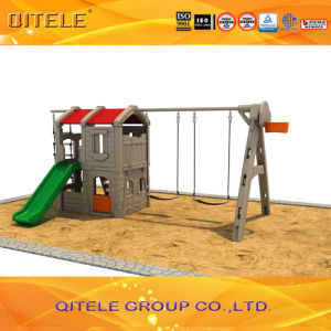 New Children Plastic Indoor Playground Playhouse with Swing (PA-001) pictures & photos