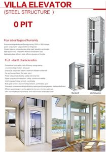 Glass Cabin Passenger Elevator with Stainless Steel Handrail pictures & photos
