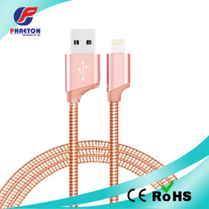 Stainless Steel 2.1A USB Data Sync Charging Cable pictures & photos